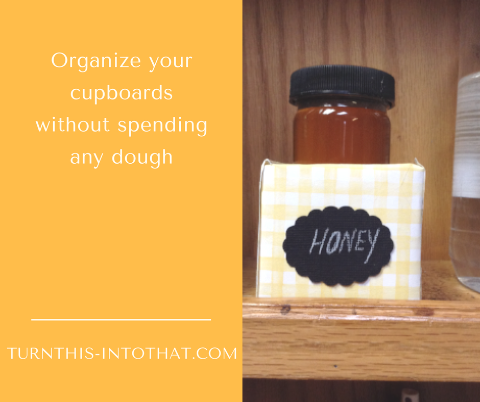 How to start organizing your cupboard