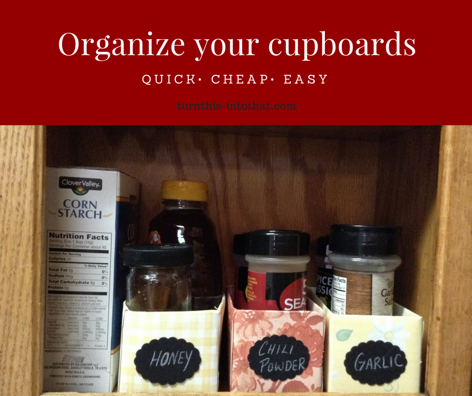DIY Organize Your Spice Cupboard