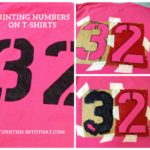 How to print numbers on t-shirts