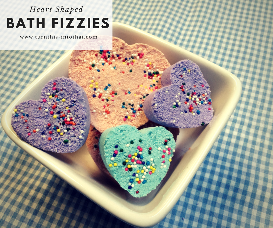 How to make Rainbow Heart Bath Fizzies-Bath Bombs