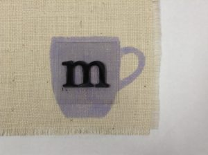 how to add initials to burlap placemats