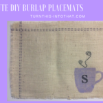 Coffee Inspired Burlap Placemats