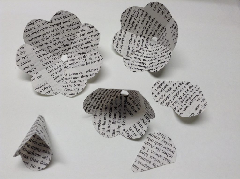 how to recycle book pages
