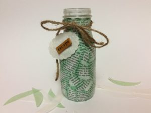 decorating a glass bottle
