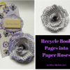 recycle books into paper roses