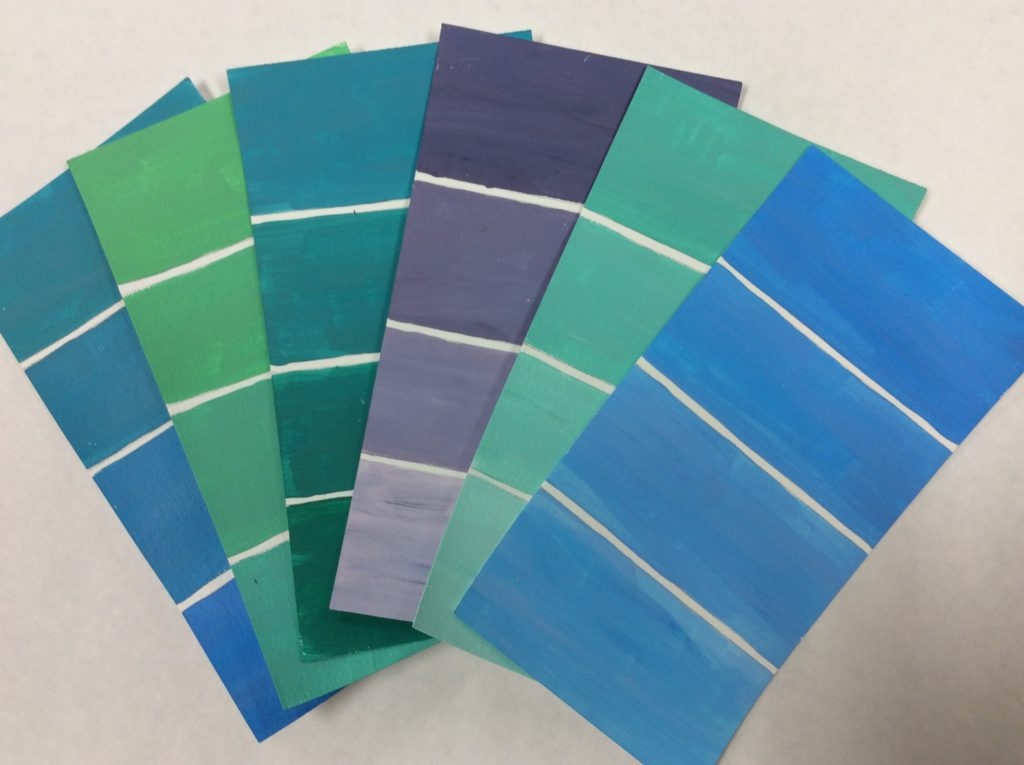 how to make your own paint chip craft artwork