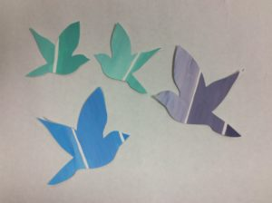 how to make your own bird paint chip craft