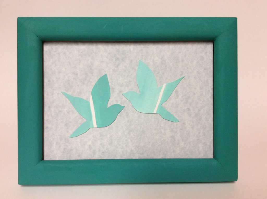 diy bird paint chip art craft