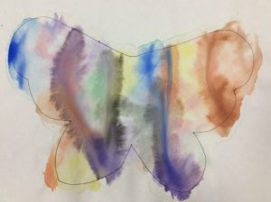 children craft with watercolor paint
