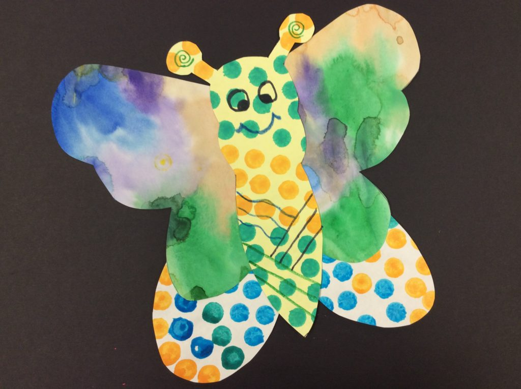 painted butterfly project for elementary