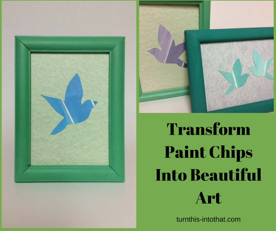 DIY Paint Chip Craft Artwork