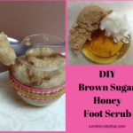 diy Brown Sugar Honey Foot Scrub