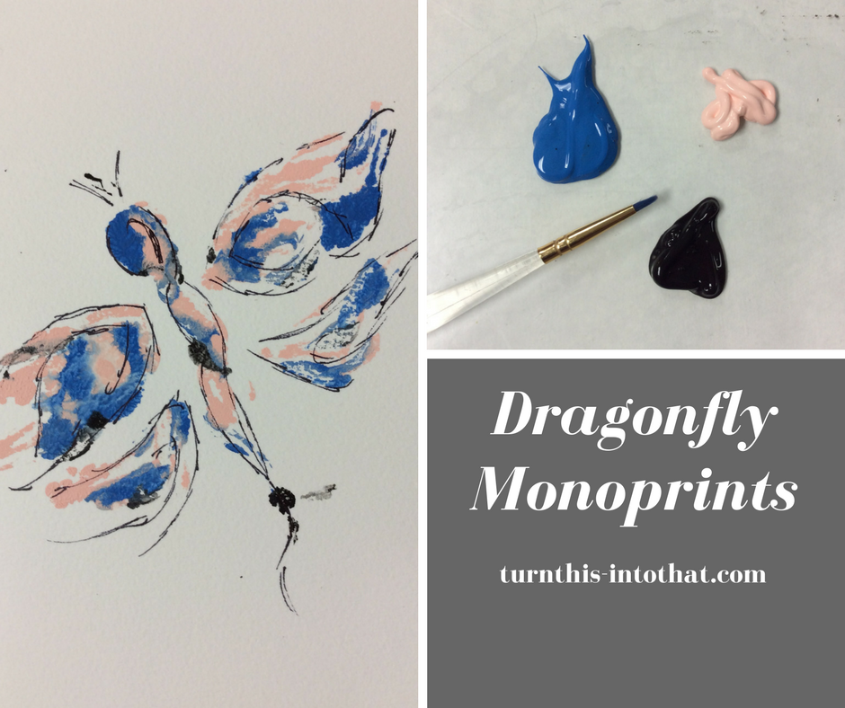 How to Make a Dragonfly Monoprint