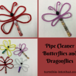 The Easiest Way to Make Butterflies using Pipe Cleaners