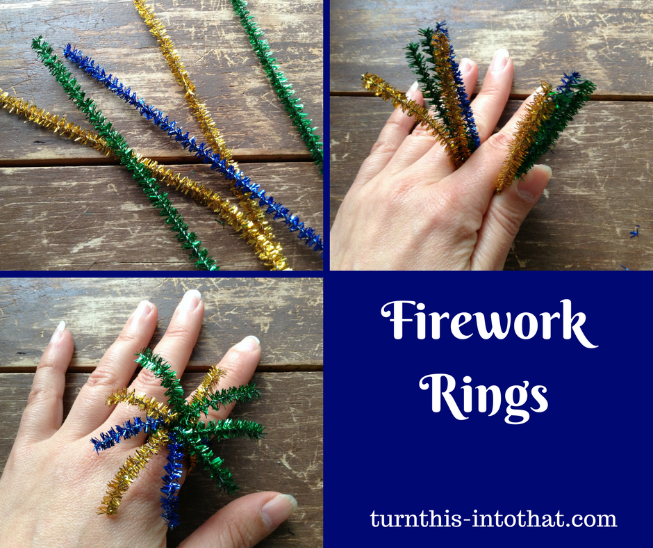 Easy Firework Rings-4th of July