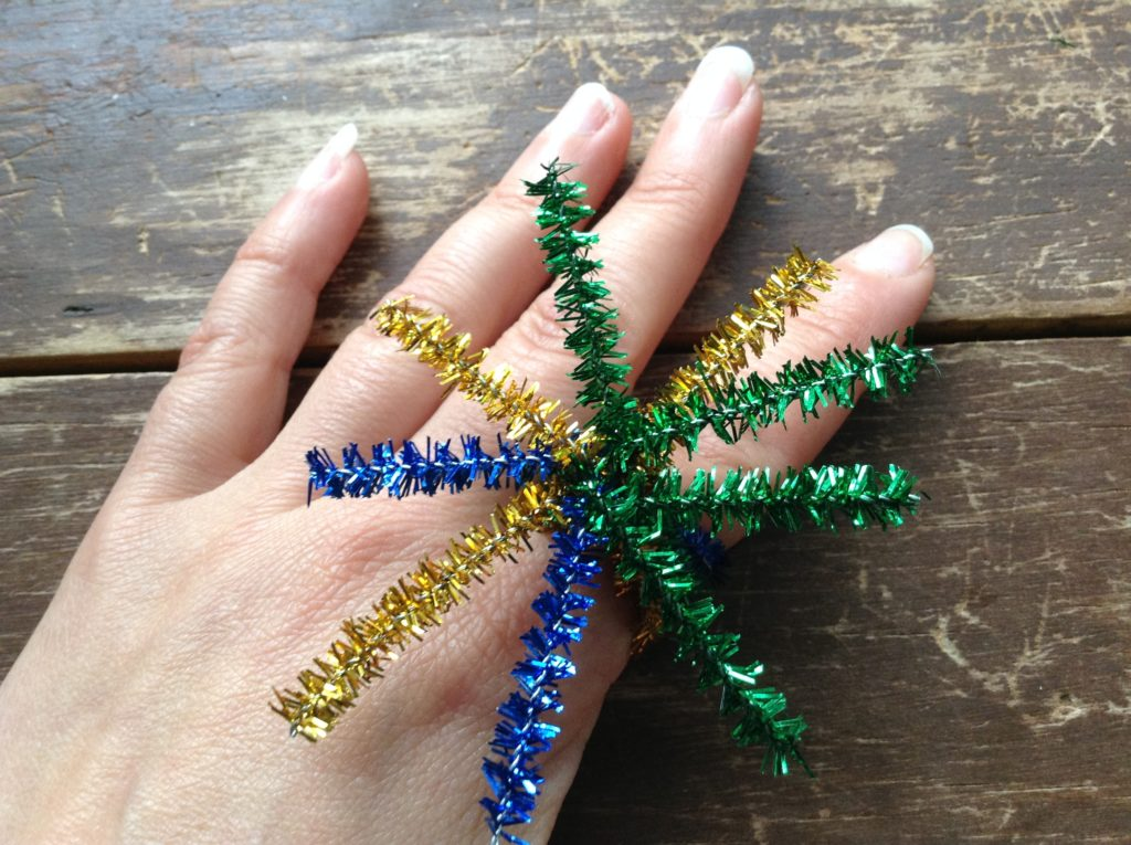 how to make a 4th of July firework ring