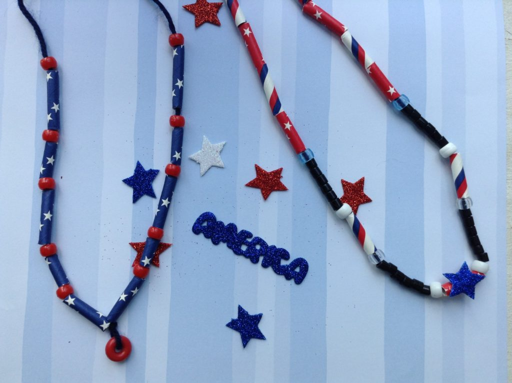paper straw jewelry  u2013 4th of july  u2013 turn this into that
