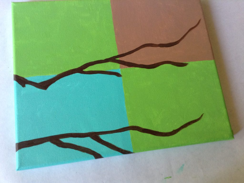 easy way to paint branches