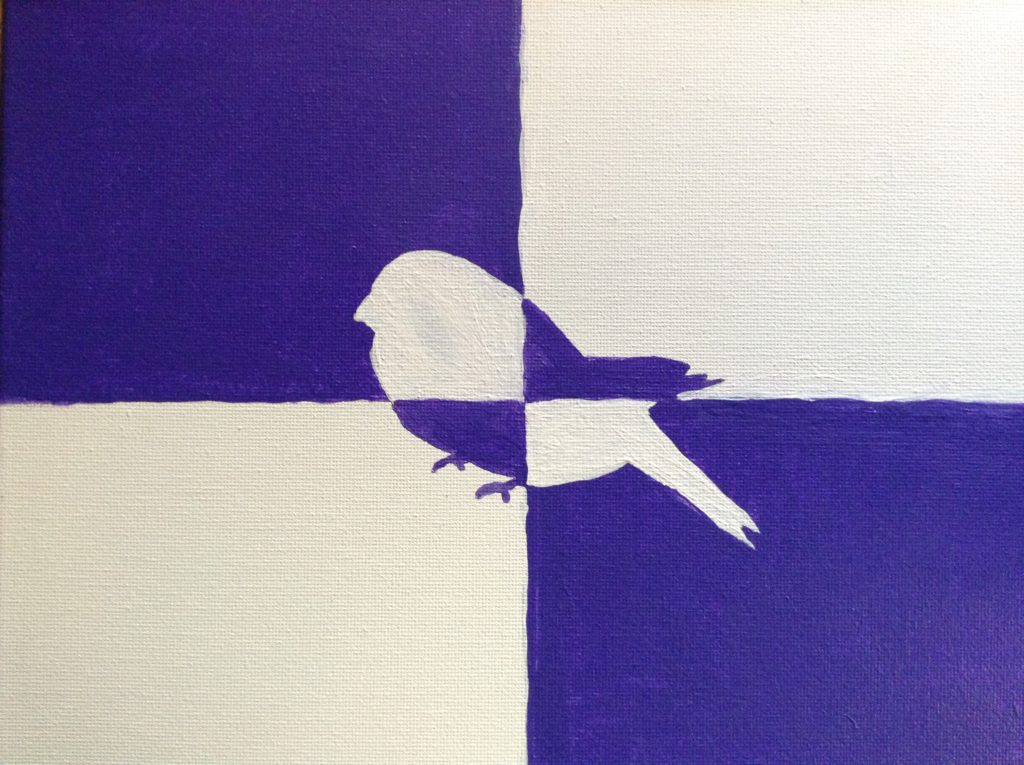 how to make a simple modern bird painting