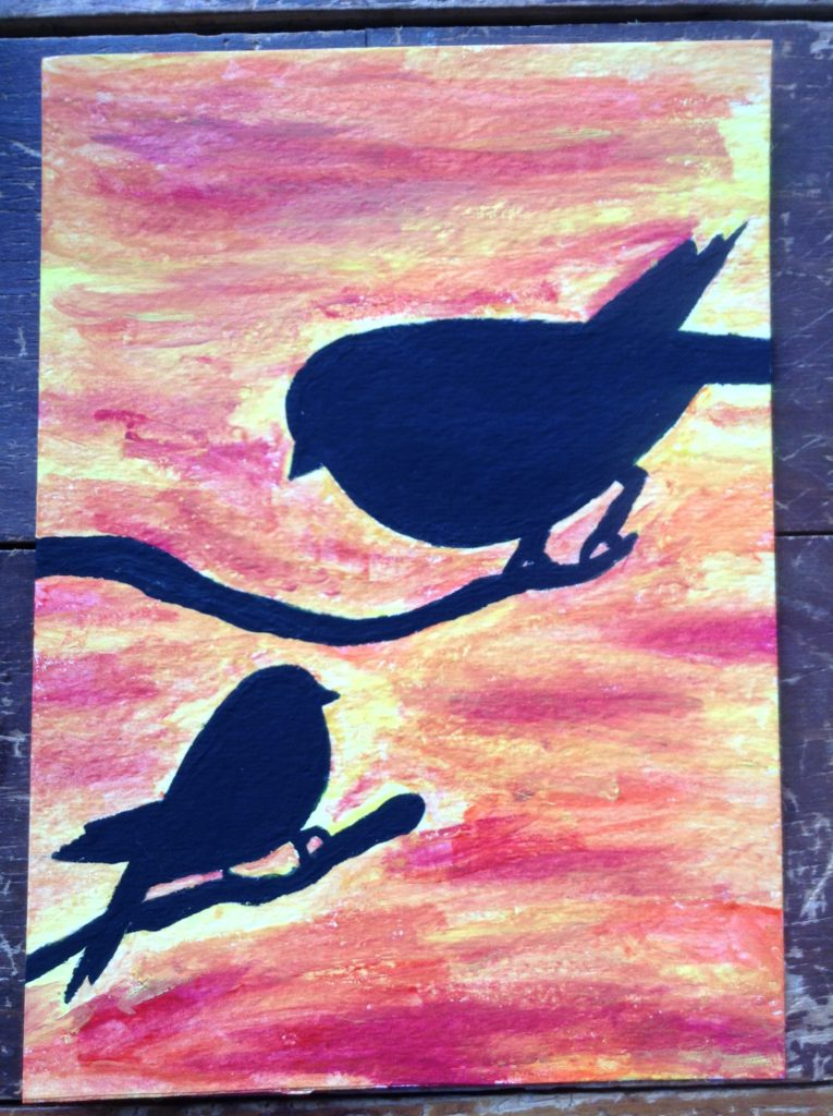 create a painting using stencils