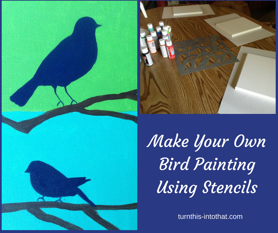 using stencils to make a painting