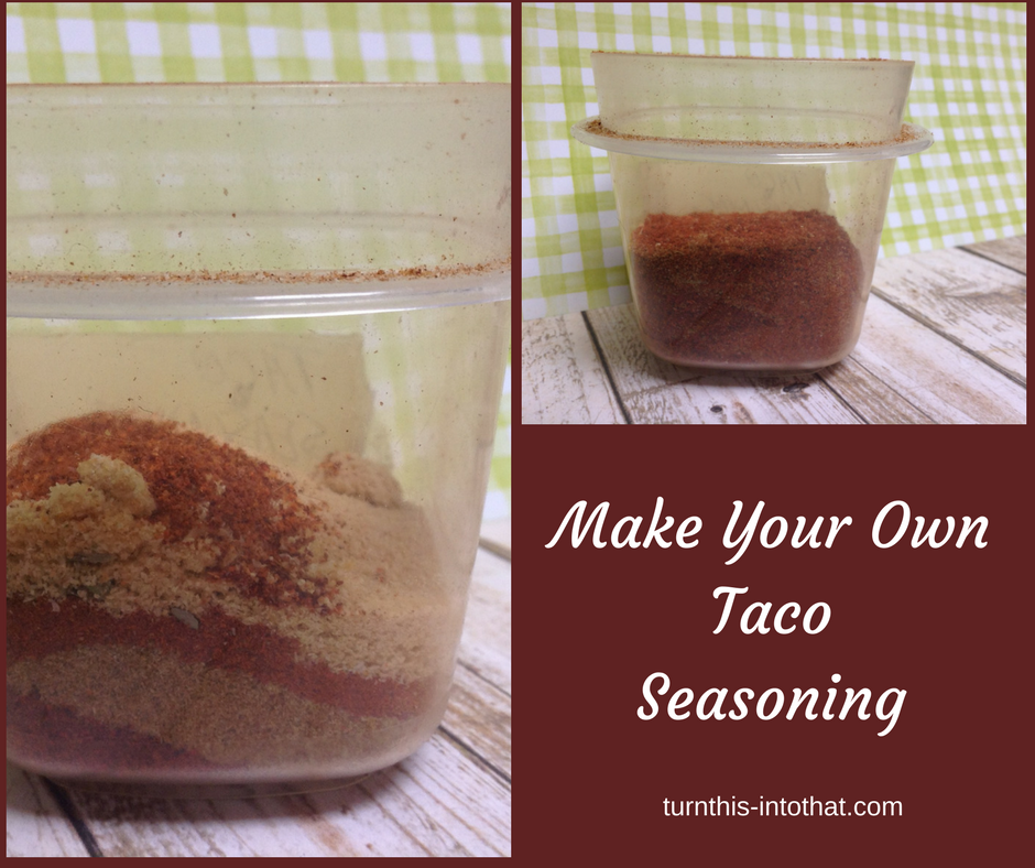 save money making taco seasoning