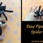 Easy Pipe Cleaner Spider Rings – Halloween