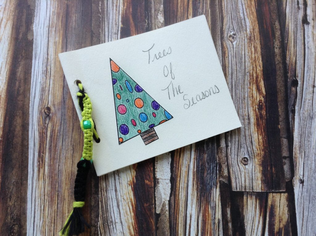 how to make a mini tree book for children