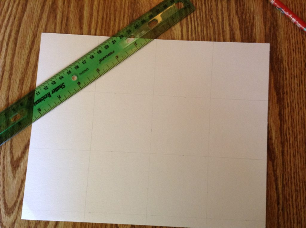 dividing paper into sections for printing