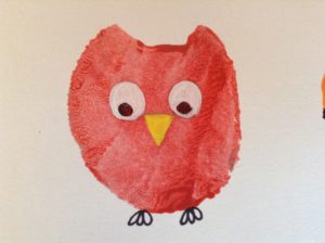 how to make a potato print owl