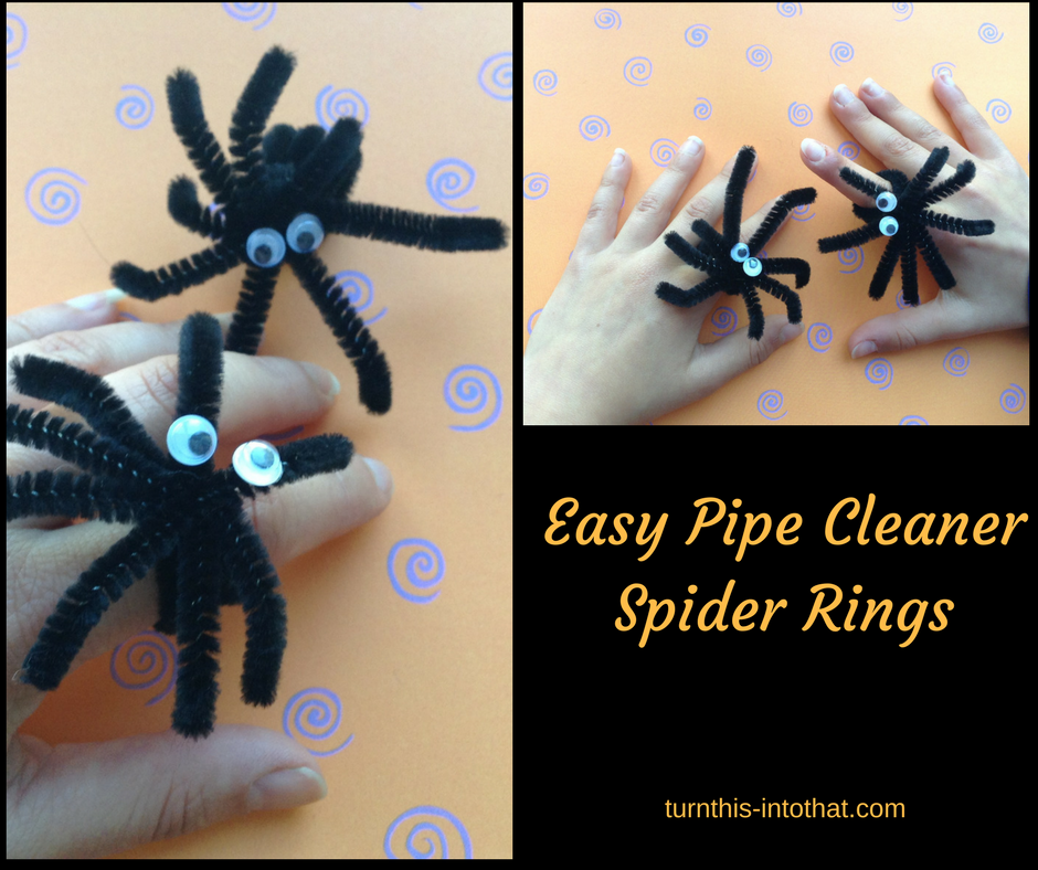 Easy Pipe Cleaner Spider Rings Halloween Turn This Into That