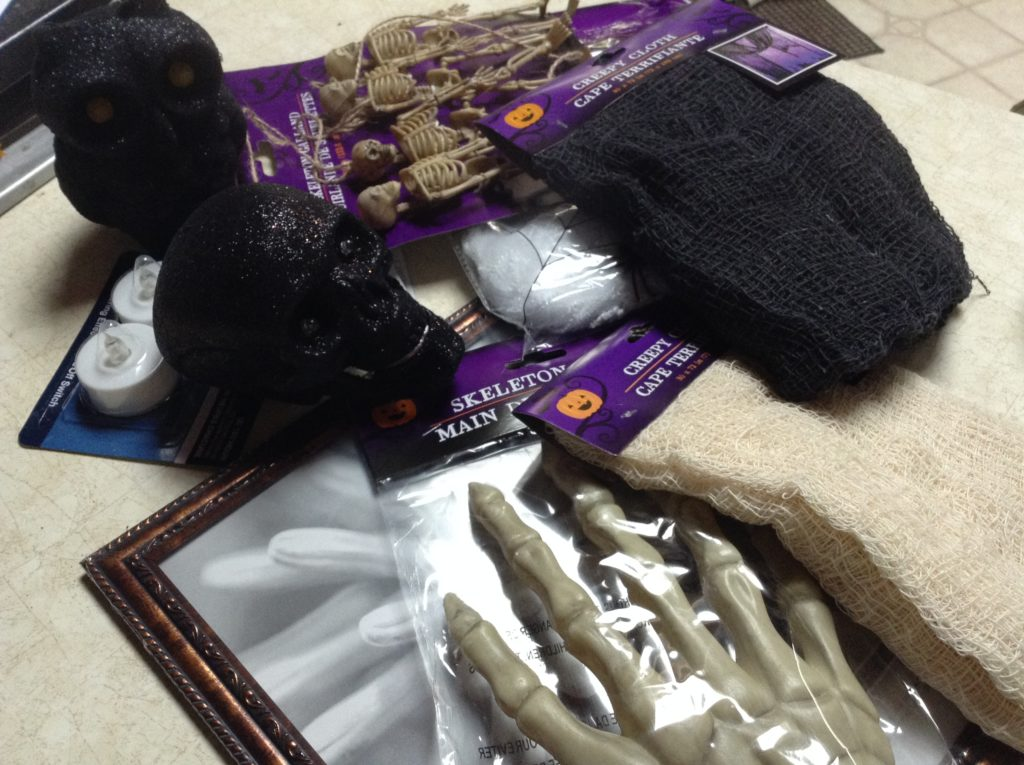 decorating for halloween with dollar tree items
