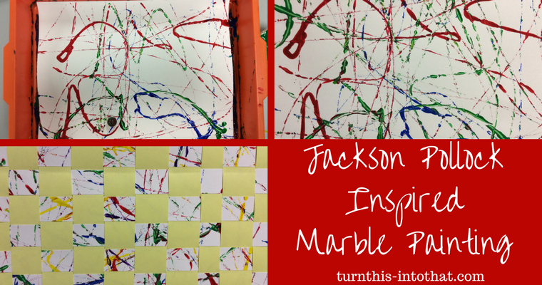 Jackson Pollock Inspired Marble Painting