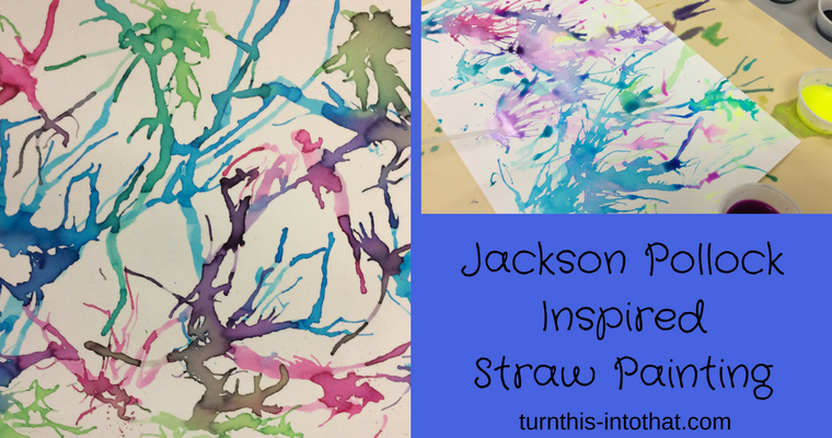 Jackson Pollock Inspired Straw Painting