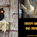 Creepy Halloween Owl Decoration