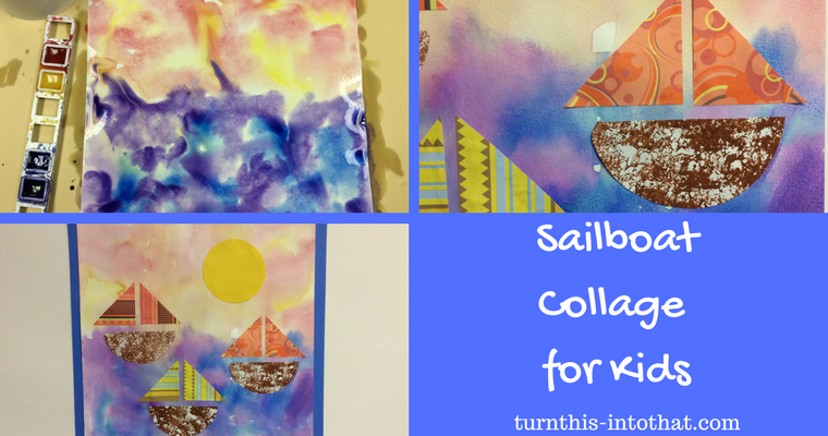 Sailboat Collage for Kids
