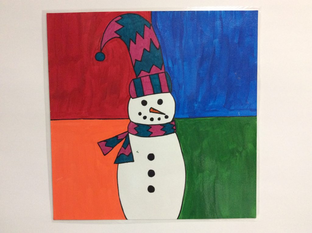 snowman painting for kids