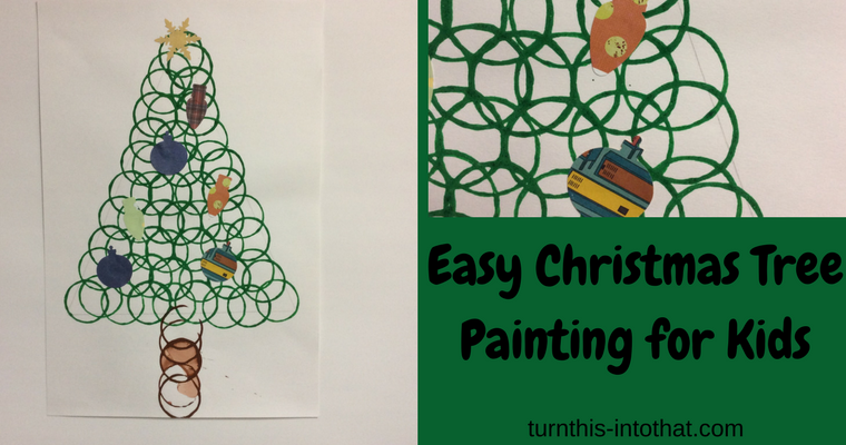 Easy Christmas Tree Painting for Kids