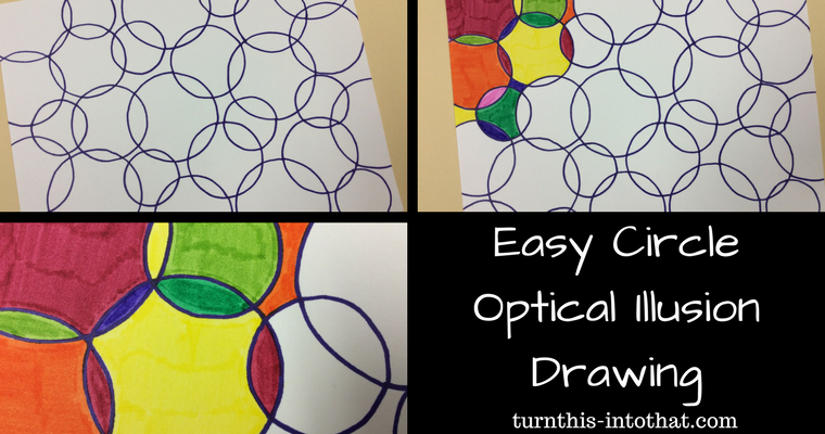 Easy Circle Optical Illusion Drawing