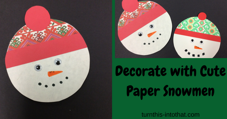 Decorate with Cute Paper Snowmen