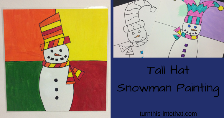 Tall Hat Snowman Painting