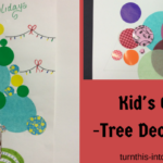 Christmas Decoupage Tree for Kids