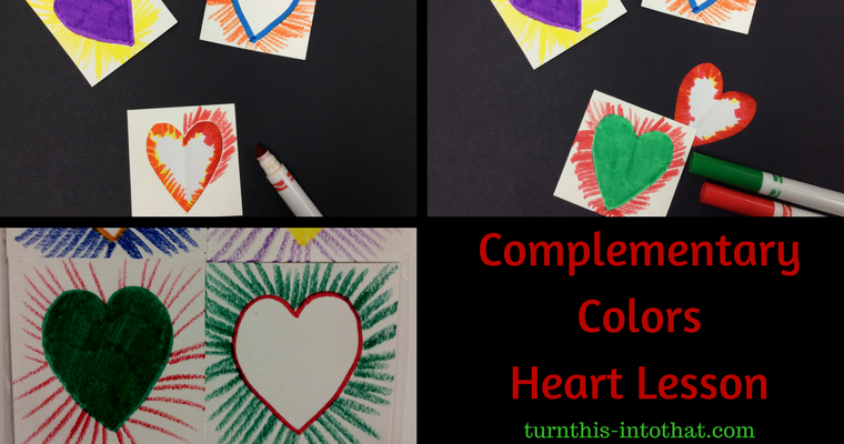 Complementary Colors Lesson – Hearts for Valentine's Day