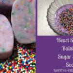 Heart Shaped Rainbow Sugar Scrub Soap – Valentine's Day