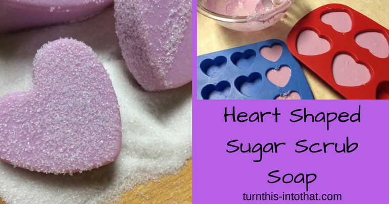 Heart Shaped Sugar Scrub Soap – Valentine's Day