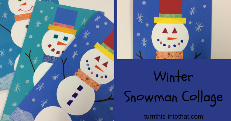 Winter Snowman Collage