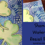 Shamrock Watercolor Resist Painting
