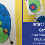 Artist Trading Cards – Joan Miro Inspired Elliptical Eggs