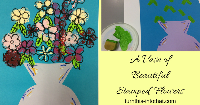 How to Make a Vase of Beautiful Stamped Flowers