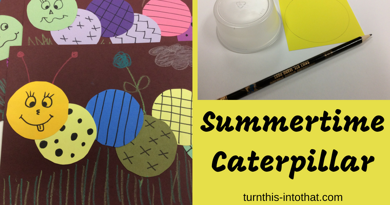 Summertime Caterpillar Collage